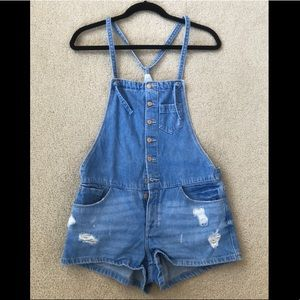 Zara Denim Overalls